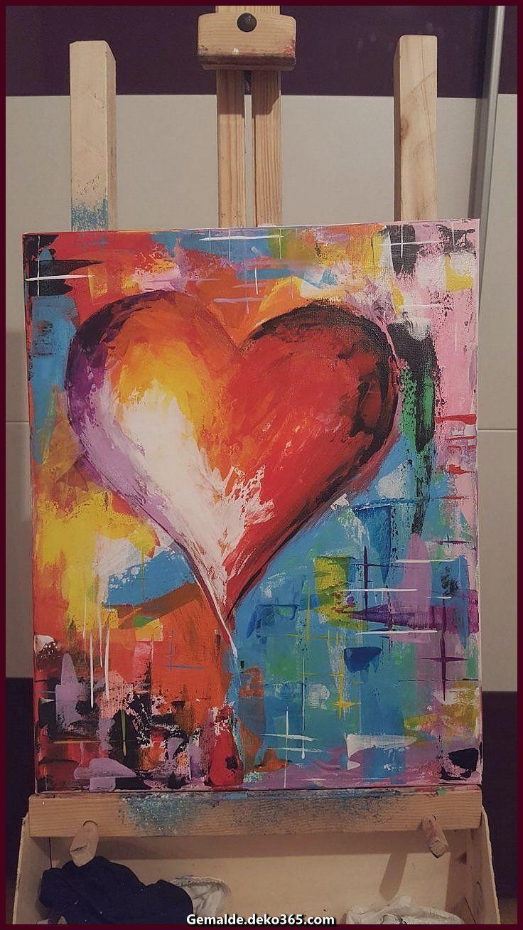 Pin Von Renate Eisenmann Auf Acryl Herz Malerei Abstrakte Kunst