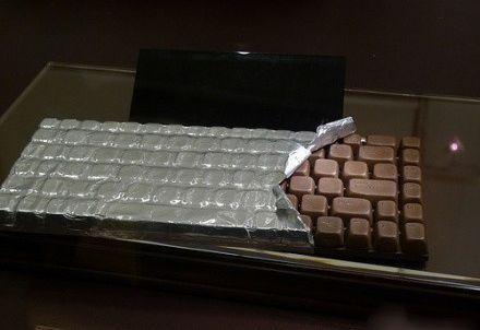 Chocolate keyboard: Das würde bei uns definitiv NICHT lange halten. #schokolade