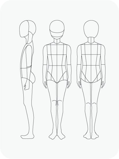Download Fashion Figure Templates