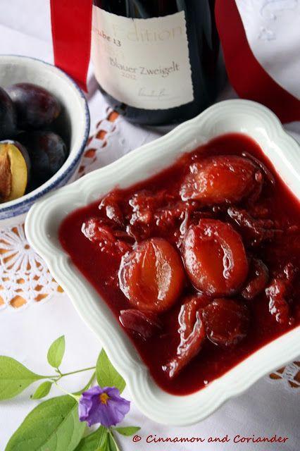 Austrian Spiced Plum Compote with Rum& Red Wine / Rezept für den ...