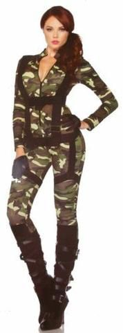 Leg Avenue Pretty Paratrooper Sexy Halloween Costume Cosplay Jumpsuit - FUNsational Finds - 1