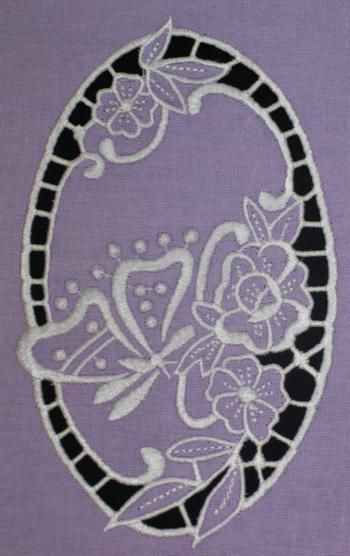 Advanced Embroidery Designs - Butterfly on Flowers