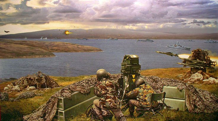 Rapier Missile at San Carlos in the Falklands