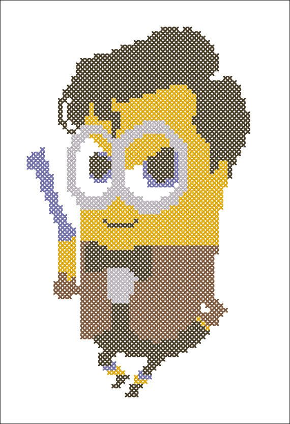 BOGO FREE! Cross stitch pattern -Minion Doctor WHO -pdf cross stitch pattern - pdf pattern instant download #78