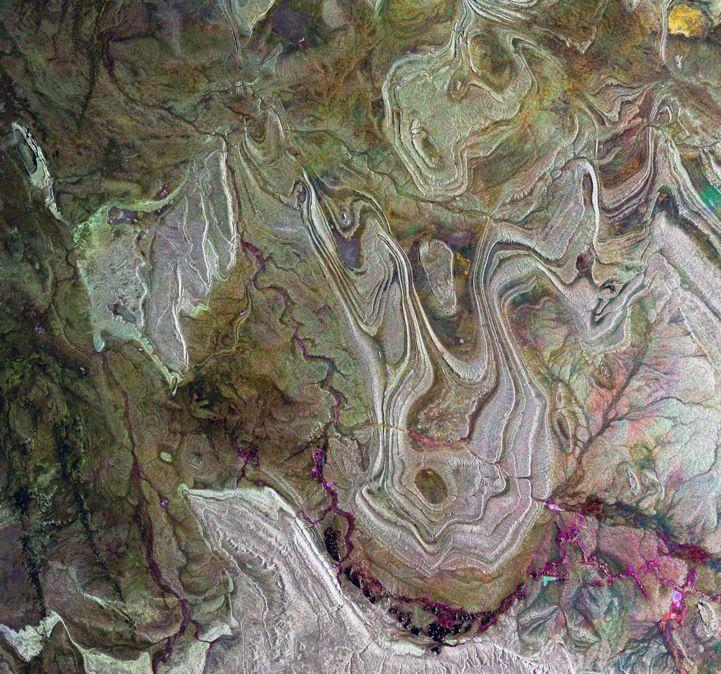 Algerian Sahara.  Credit: Envisat's Breathtaking Photos of Earth from Space - My Modern Metropolis