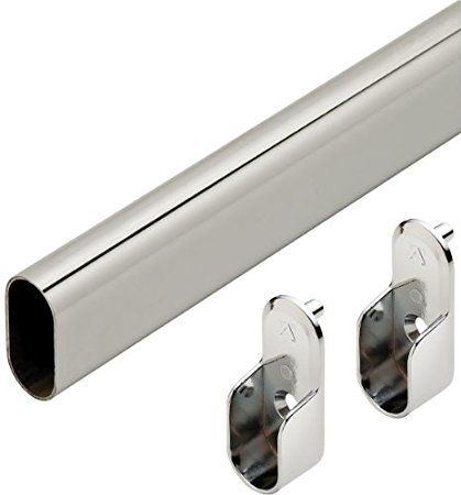 30 Quot Polished Chrome Closet Rod W End Supports Closet