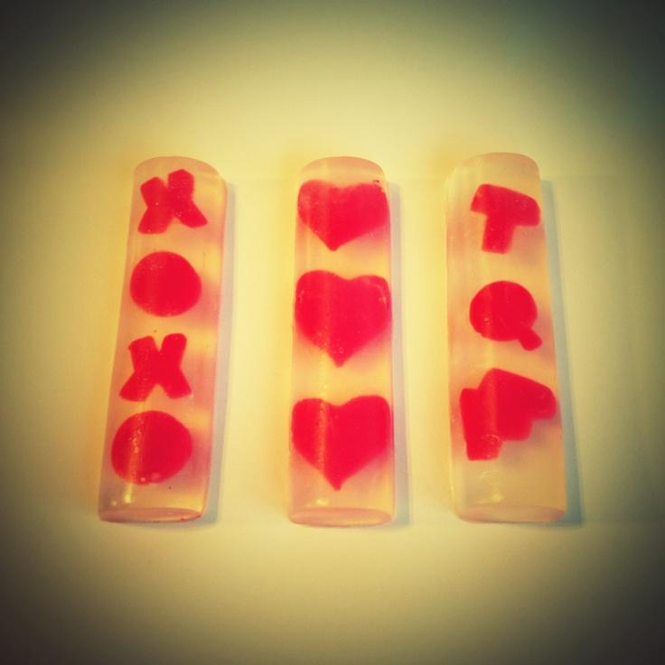 Jabones glicerina ideales para san Valentín love $15