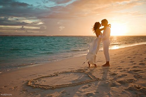 Maldives wedding sunset