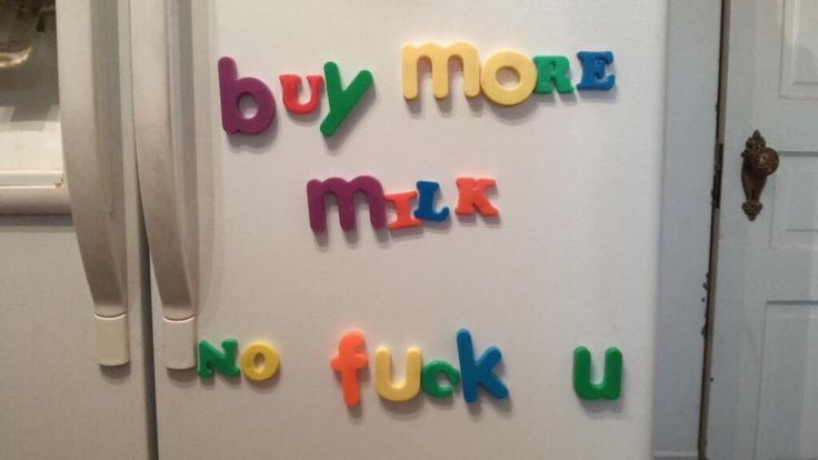 nicky visits the minyard-josten apartment and finds this on their fridge. it's their take on being domestic.