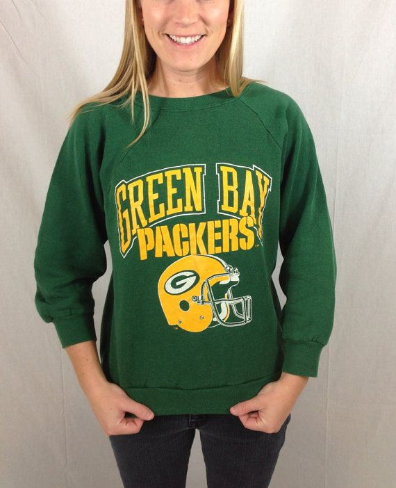 Vintage 90s Green Bay Packers Sweatshirt by GreenAndGoldWithEnvy, $26.00