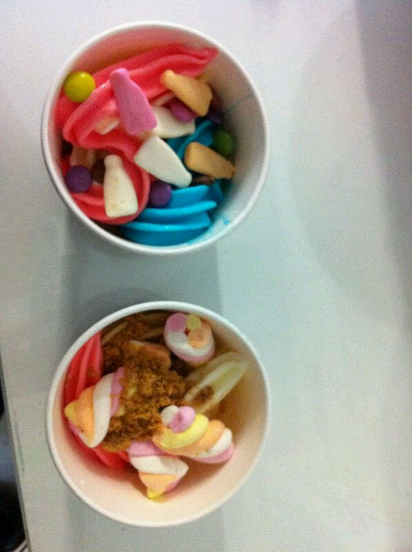 Frozen yoghurt creations at Wakaberry