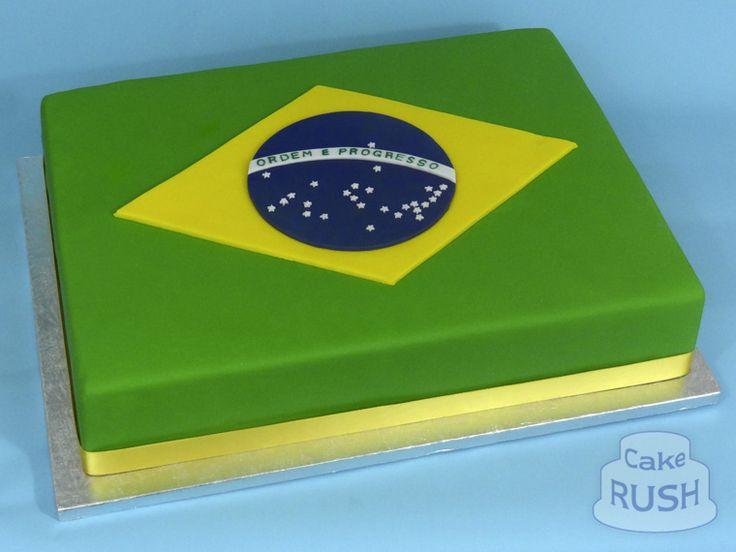 Brazil Flag cake