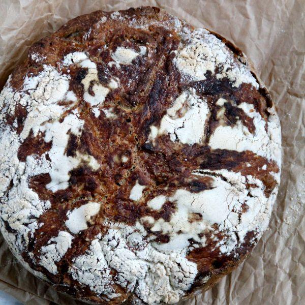 Eltefritt valnøttbrød med spelt og honning – variant nr.49