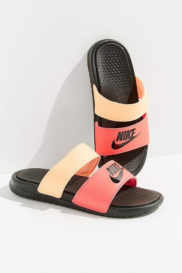 on sale 4e452 22903 Women's Benassi JDI Swoosh Slide Sandals from Finish Line ...