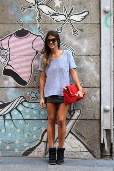 how to wear a skirt & wedge sneakers NOTE: keep one item of clothing loose to balance out the luxe sport vibe...x