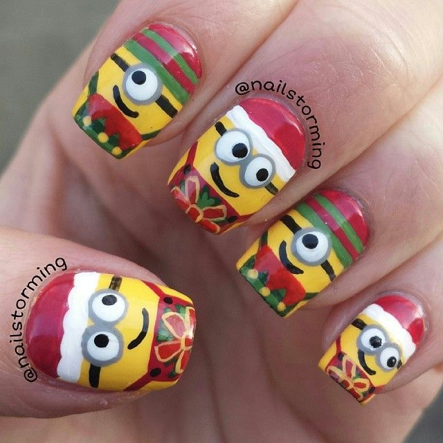 minions christmas by nailstorming #nail #nails #nailart