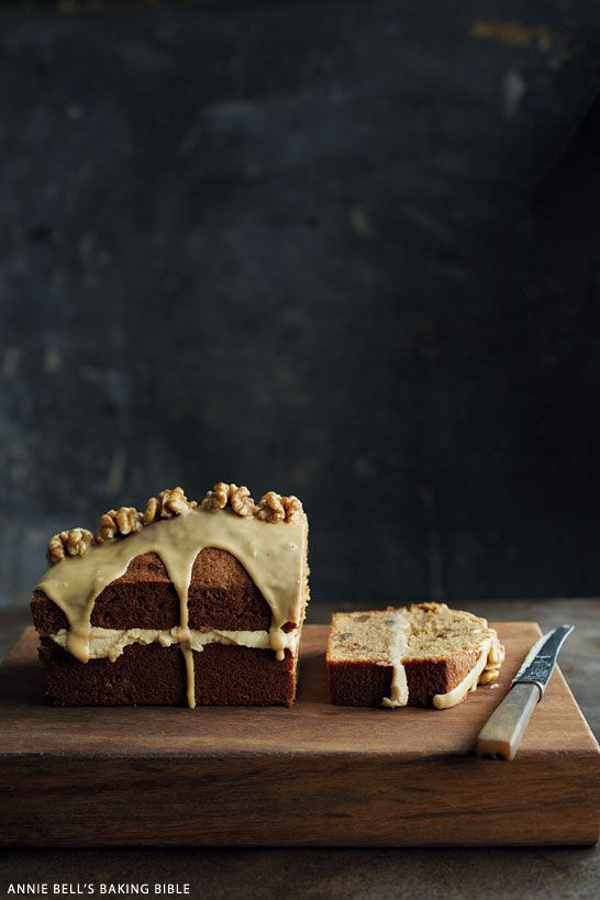 Start your morning with a decadent coffee and walnut cake.