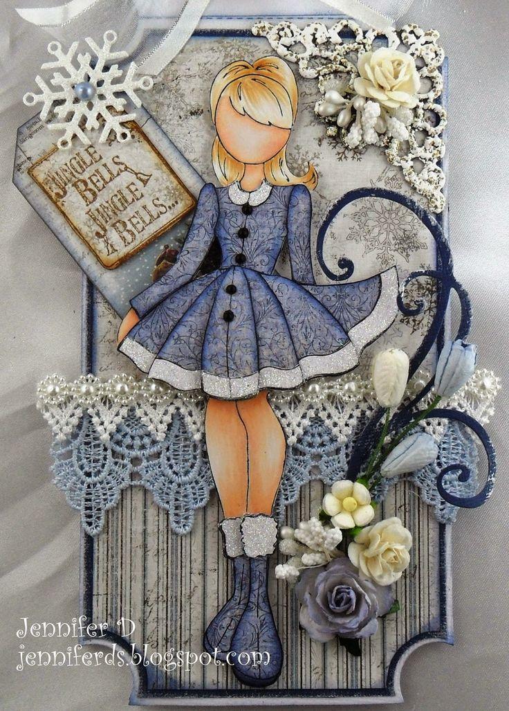 Beautiful Christmas Prima Doll