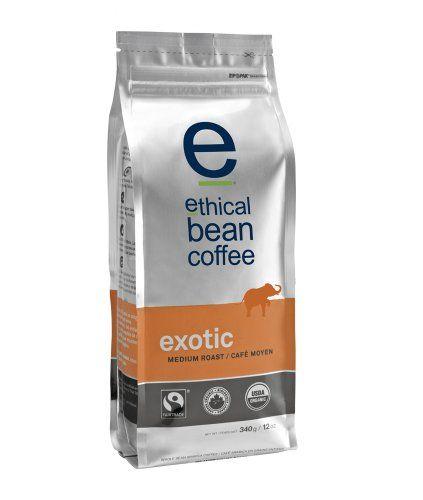 Ethical Bean Coffee Exotic, Medium Roast, Whole Bean, 12-Ounce Bag - http://goodvibeorganics.com/ethical-bean-coffee-exotic-medium-roast-whole-bean-12-ounce-bag/