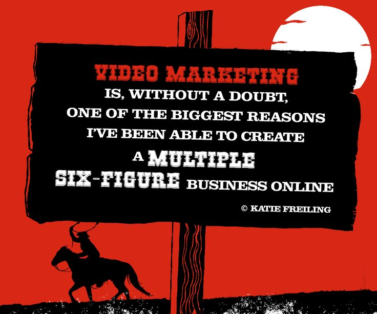 Video marketing is, without a doubt, one of the biggest reasons I've been able to create a multiple six-figure business online. - Katie Freiling #best #Animation #Advertising #Video #Production