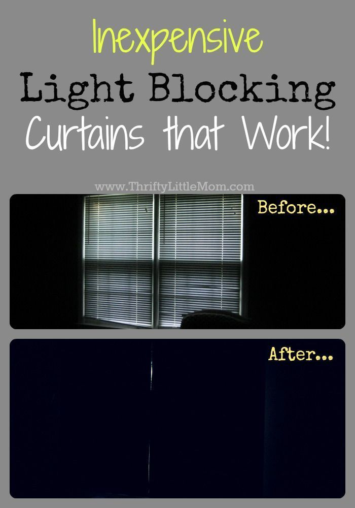 Inexpensive light blocking curtains that work! Looking for a little more sleep and a little less light in you or your children's bedrooms? You don't have to pay a ton for light blocking panels.