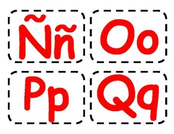 This is a set of the letters in Spanish in red that can be used as flash cards or to post in classroom for Word Walls. These are ideal for Dual Language Classrooms!! Este es un juego de tarjetas del abecedario en espanol en rojo ideal para salones del Dual Language!!