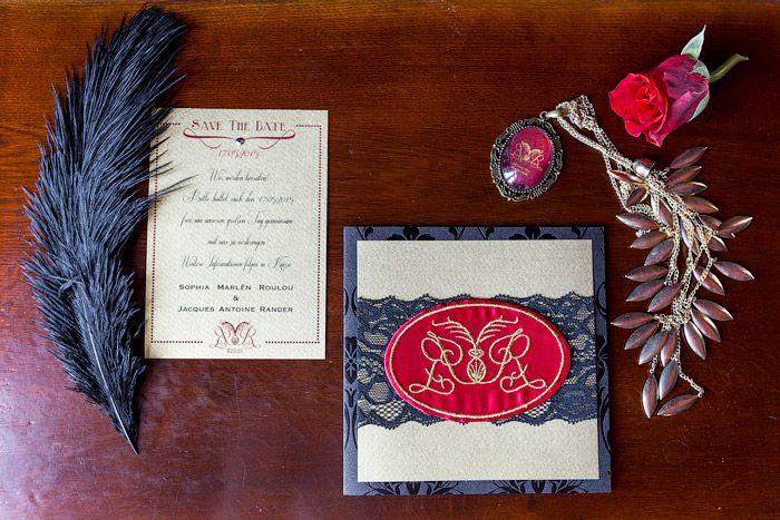 Pariser Hochzeit - inspiriert von Moulin Rouge #Christina_Eduard_Photography #PAPETERIE #Einladungskarten #Hochzeit #Theater_Inspiration
