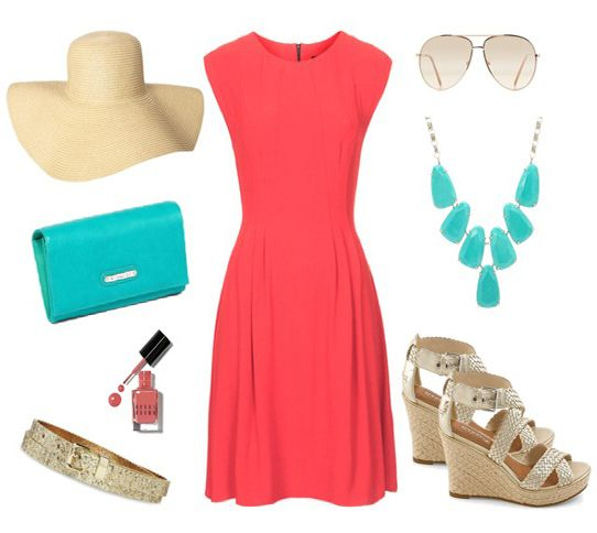 like the color combo - - Note: Bold colors, sky high wedges,