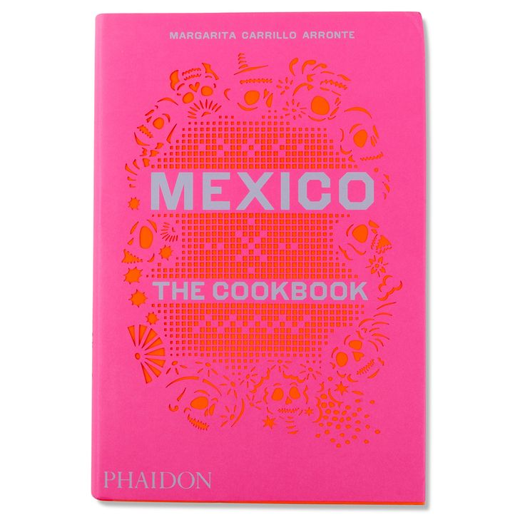 Mexico cookbook stylish pretty cookbook hot pink