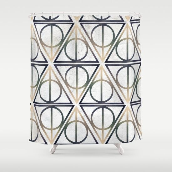 Harry Potter Shower Curtain - Always Symbol Pattern - Society6.com