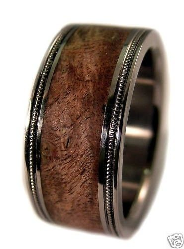 mens ring mens wooden wedding bandswood - Wooden Wedding Rings For Men