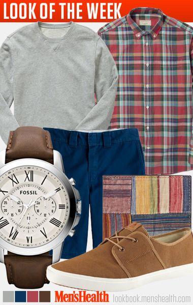 Don't be afraid of a little color. Shirt: Maison Kitsuné via Mr. PorterSweater: GapShorts: J.CrewWatch: FossilWallet: Jack SpadeShoes:...
