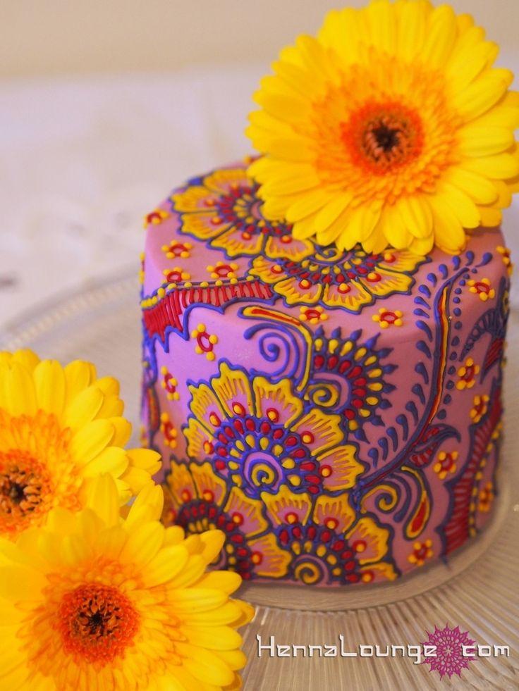 Mini Henna Cake  Hippy Boho Indian Bollywood purple Cake Central