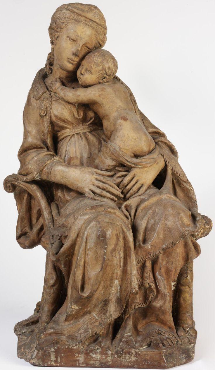 Автор неизвестен Флоренция Мадонна с младенцем - arabena.  Музей Виктории и Альберта, около 1425 года.