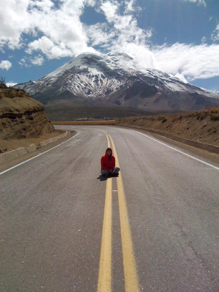 Over the road #Chimborazo #mountain #snow #road