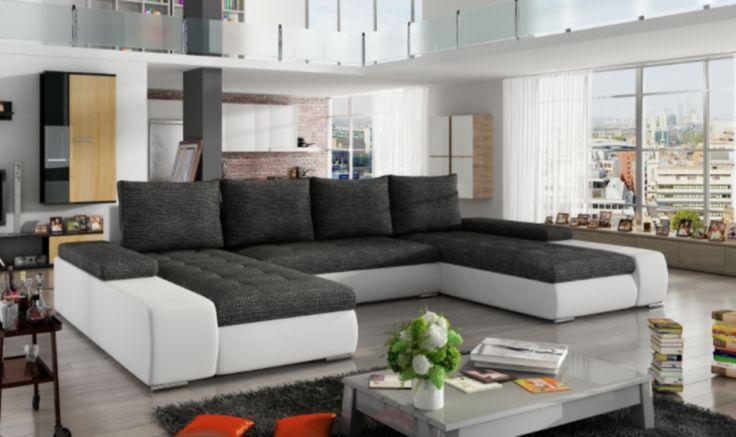 Diese moderne große Couch können Sie hier bestellen.Diese besitzt SchlaffunktionVerschiedenen Farben möglich.Wählen Sie zwischen Stoffe oder Kunstleder Bezüge..- Qualitäts Stoffe!- EdelstahlfüßeMaße: 363 x 200 x 85cm ( Länge / Tiefe / Höhe)Schlaffunktion: 297 x 122cmCouch besitzt Sitz-FederungSie erhalten beim Kauf dieser Couch einen einmaligen Rabatt von 200€ bis zum 23.04.2017UVP Preis: 1599€