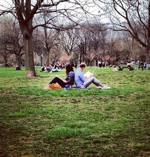 Troian Bellisario and Patrick J. Adams in a Park - Cutest pose for engagement photos!