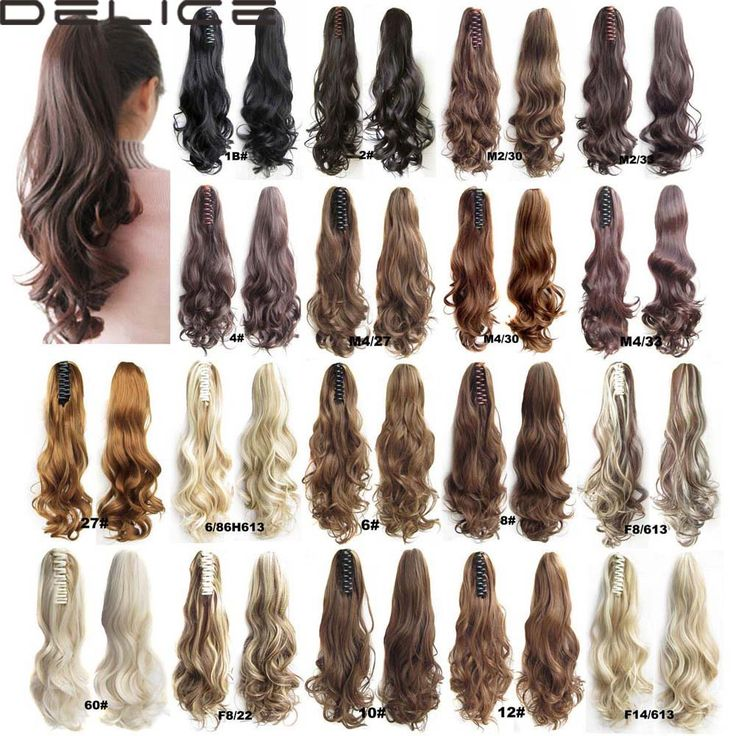 22 inch 170g Women Long Wave Curly Style Hair Ponytail Claw Pony tail Clip In On Synthetic Hair Extensions CP88-2