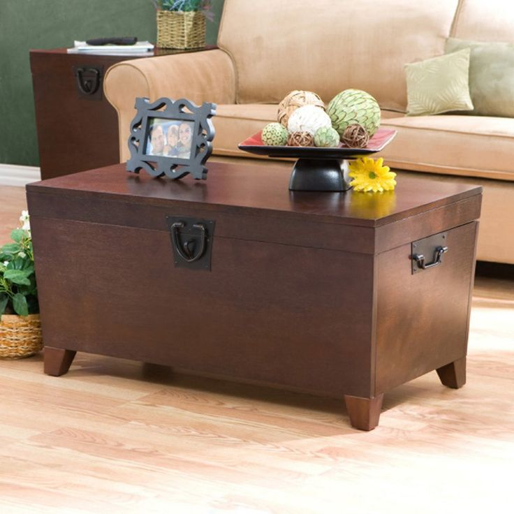 Southern Enterprises Pyramid Trunk Coffee Table - Espresso - Have you met the Pyramid Trunk Coffee Table? Let's get acquainted. You can store…
