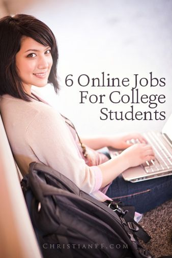 6 jobs for college students - some good ideas here
