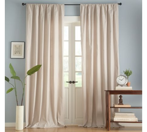 Captivating Drapes In Sitting Room And Large Guest Bedroom ~ Textured Cotton Deep  Pocket Drape From Pottery Barn
