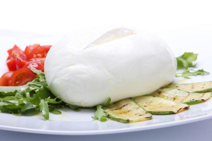 Classic Italian Burrata busting with flavour.