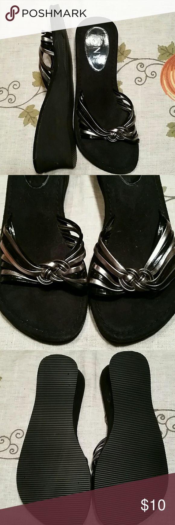 Black wedge sandals 2 inch heel - Black Wedge Sandals 2 Inch Heel 35