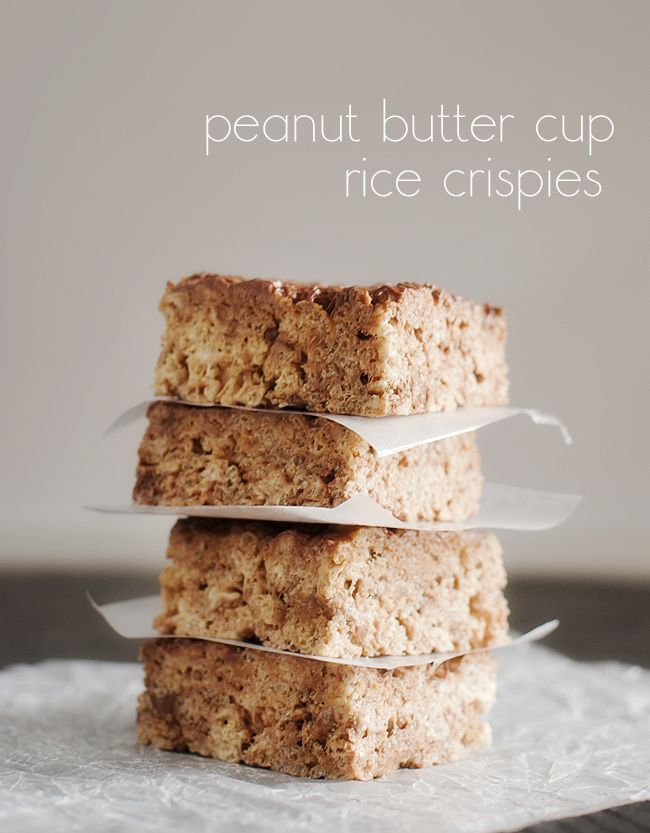 peanut butter cup rice crispies dessert bars dessert recipes peanut ...