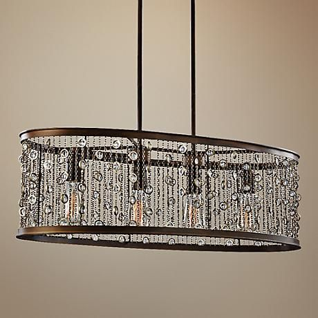 "Feiss Colorado Springs 33 1/4""W Bronze 4-Light Chandelier"
