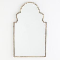 Girl's Bath: Wisteria Handfinished Silver Mirror - Moroccan