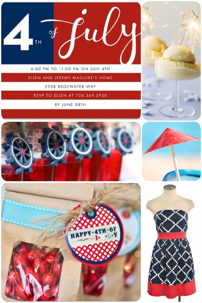 Patriotic July 4th Party Ideas! By PizzazzerieCrafts Ideas, Ideas Parties, 4Th Of July, Patriots Parties, July 4Th, Parties Ideas, Patriots July, 4Th Parties, Party Ideas