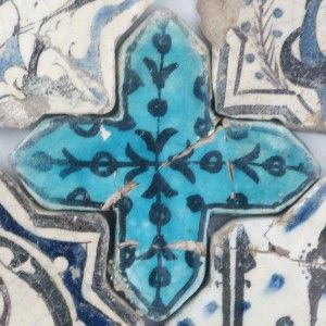 Turquoise Cross Tiles – Turkuvaz Haç Motifi