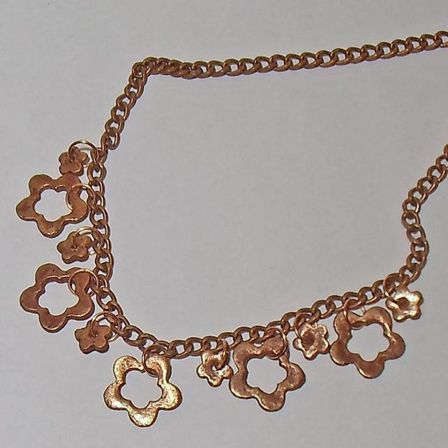 Daisy Chain Copper Necklace