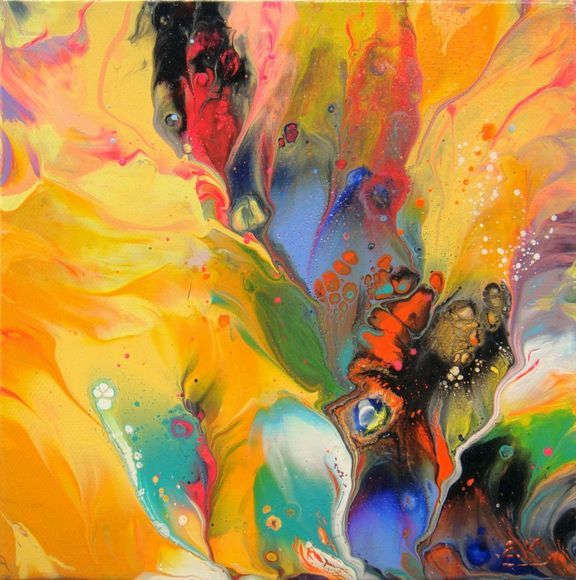 """""""Floral"""" Abstract Small painting #1"""